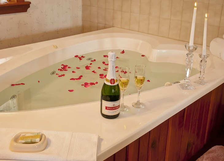 Bavarian Inn's Master Suite's Heart Shaped Jacuzzi